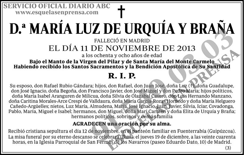María Luz de Urquía